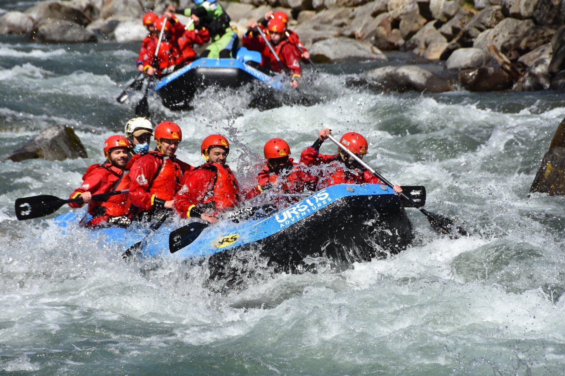 rafting sul fiume Noce in Val di Sole con Ursus Adventures