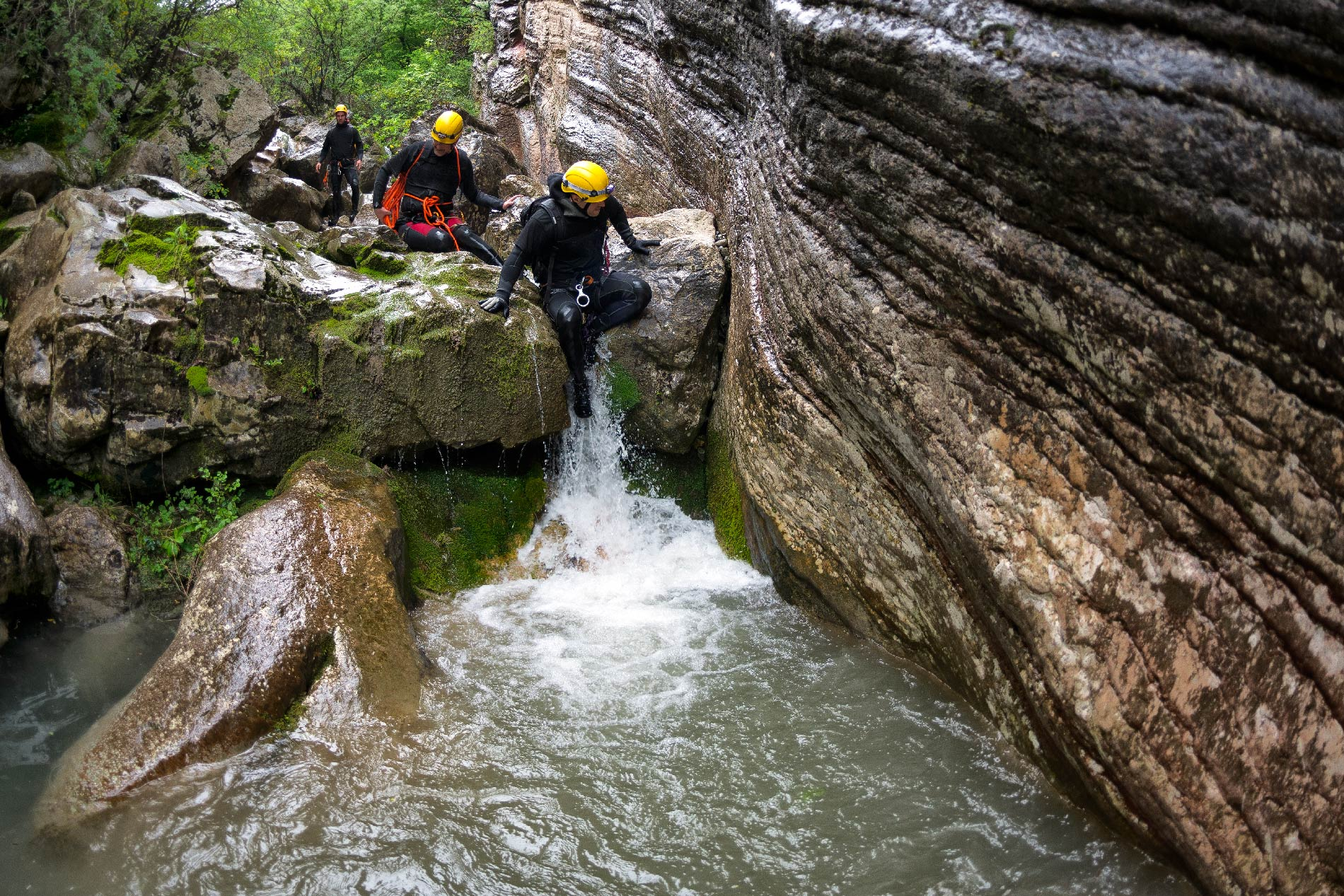 Canyoning tra le gole in Val di Sole