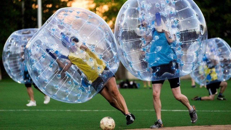 Bubble Football in Val di Sole