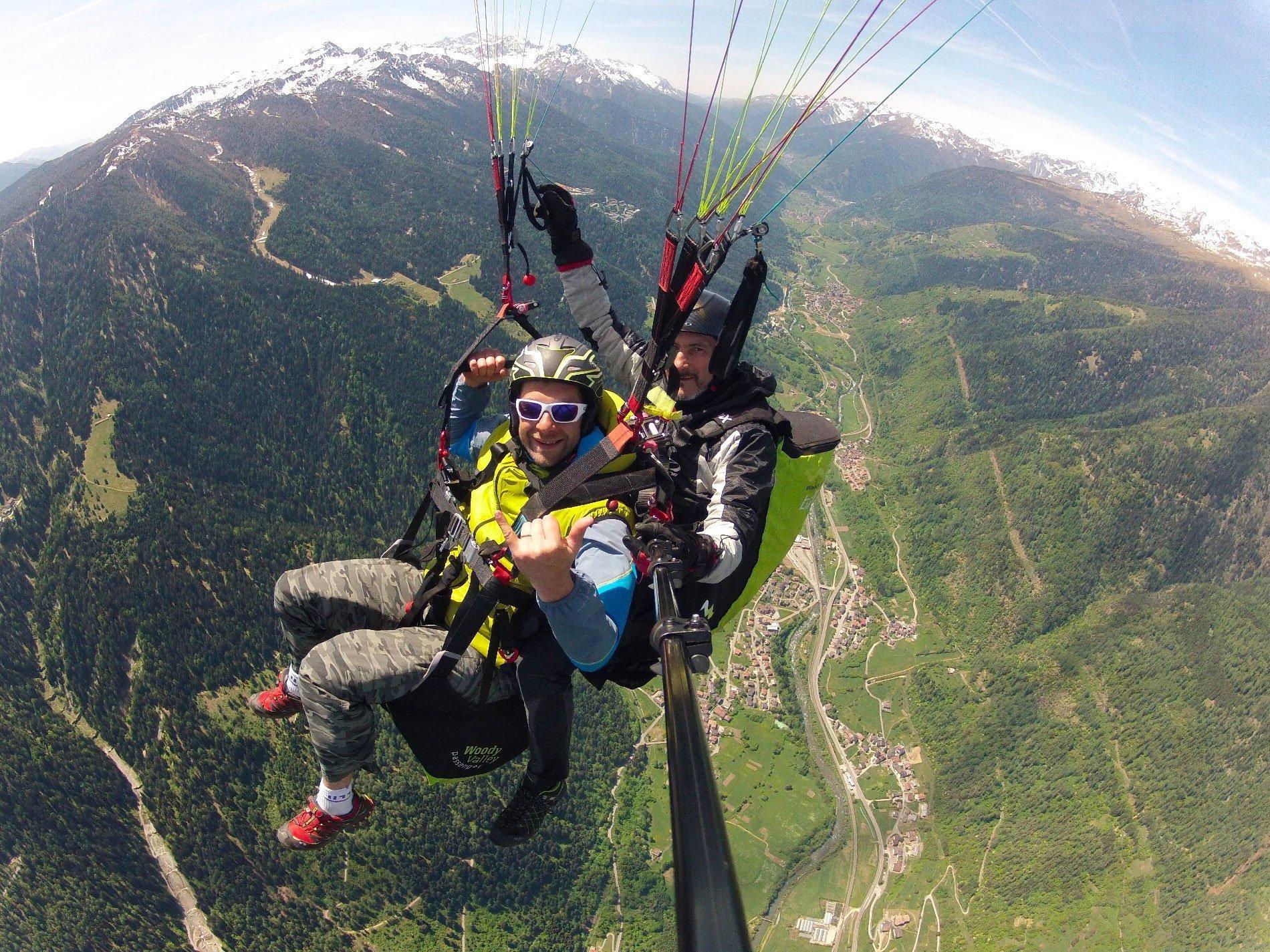 Parapendio Biposto vola sulle Dolomiti di Brenta