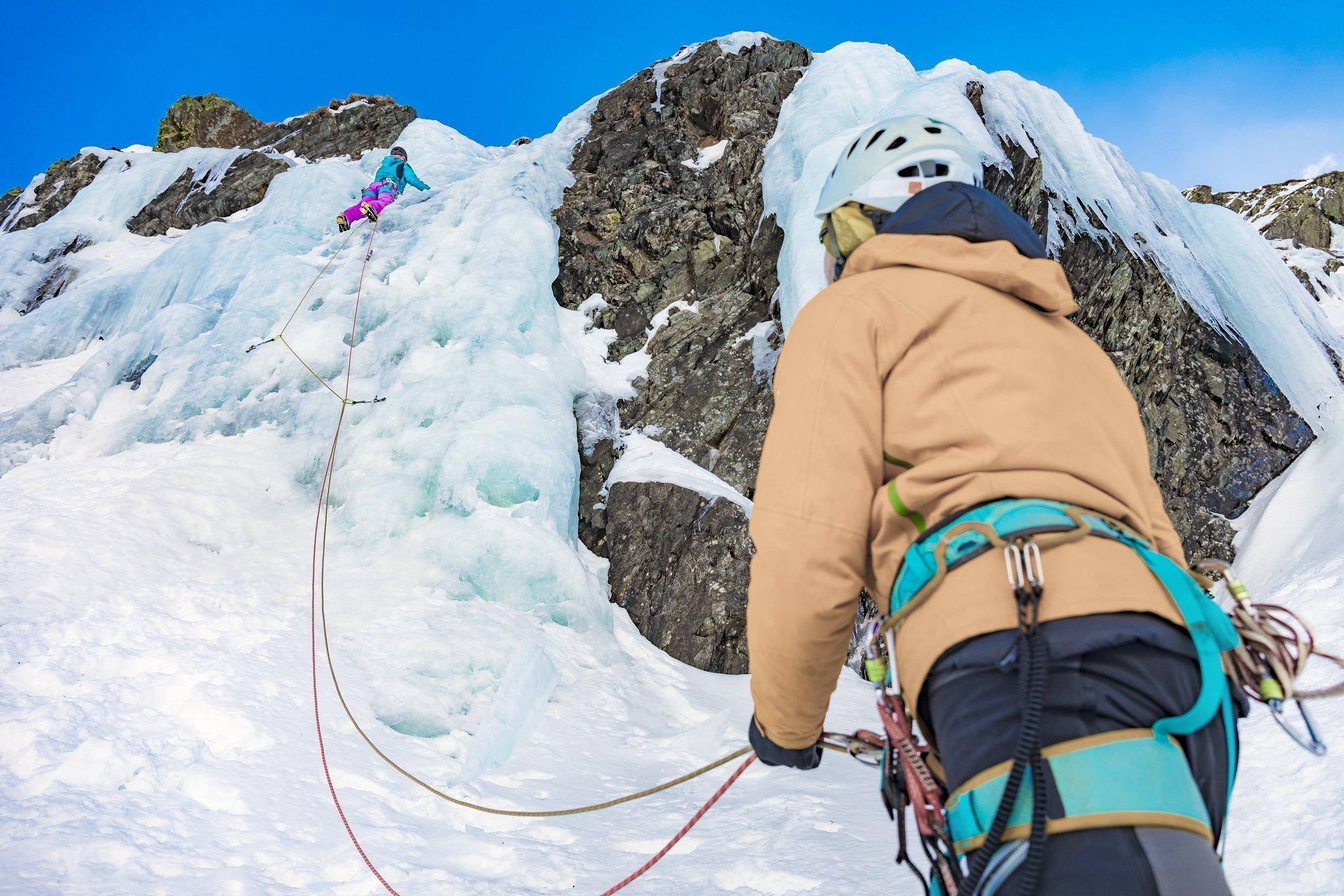 Ice Climbing in Val di Rabbi